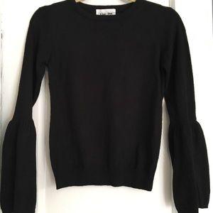 Never before worn bell sleeve black sweater